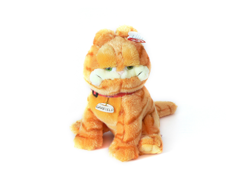 Garfield plüss figura nyakörvvel 9158218180